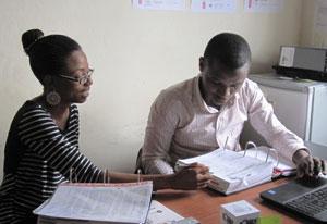 Dr. Anyanwu at Mulago Hospital, Uganda